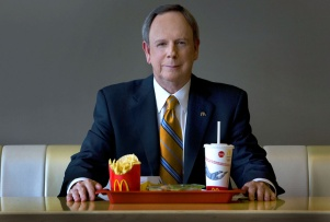 McDonald's CEO Jim Skinner poses at an eatery located in their Oak Brook headquarters, Wednesday, September 10, 2008. (Chicago Tribune photo by Alex Garcia).